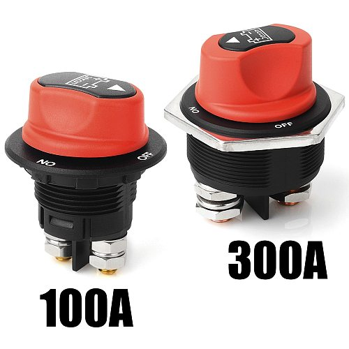 Jtron car Battery Switch 12v 300A/200A/100A/50A Motorcycle 32VDC max On-off 2P SPST Car Mini Battery Switch