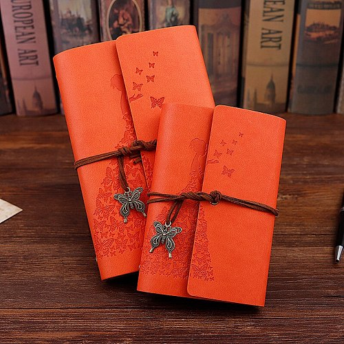New Travelers Notebook Diary Notepad Vintage Literature PU A6 A5 Leather Note Book Stationery Gift Traveler Journal Planners