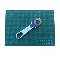1 Sets A4 Cutting mat Plus 45mm round knife Outfit Patchwork Cutting pad Cloth cutter Sewing tools 100% GOOD QUALITY DIY TOOL
