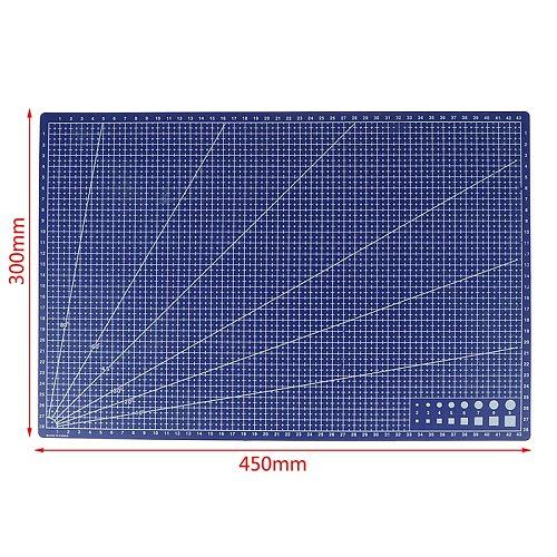 1Pcs A3 PVC Rectangular Grid Line Cutting Mat DIY Tool 45cm x30cm