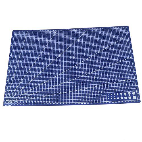 Hot sale 1Pcs A3 Pvc Rectangular Cutting Mat Grid Line Tool Plastic 45cm x30cm
