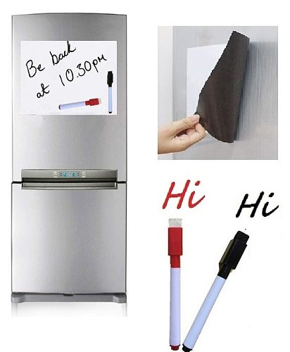 A4 Size Magnetic Whiteboard Fridge Magnets White Board Home Kitchen Message Board Writing Sticker Dry Wipe Board Magnetic Marker