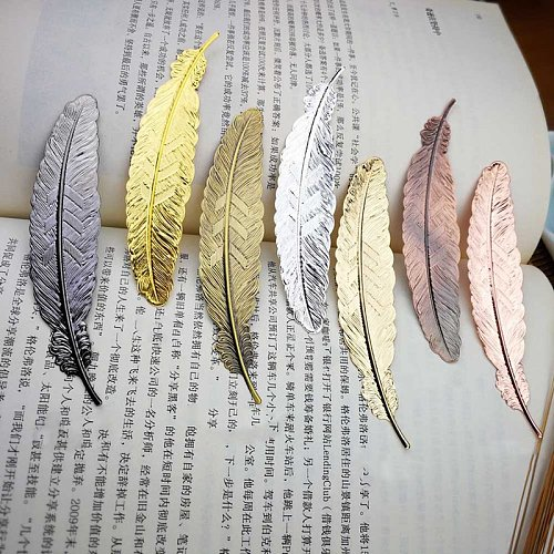 DIY Cute Kawaii Black Butterfly Feather Metal Bookmark for Book Paper Creative Items Lovely Korean Stationery Gift Dropshipping