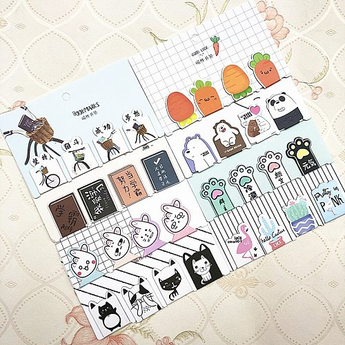4 pcs/set Cactus Bear cat Magnetic Bookmarks Books Marker of Page Stationery School Office Supply Student Rewarding Prize