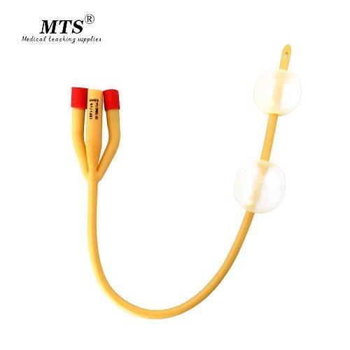 3 way urethral catheter double balloon latex foley catheter silicone coated sterilized male sex urinary catheter