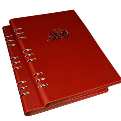 Customised Logo PU Leather Menu Cover Folder,   holding A4 menu directly or 29x18.6cm paper