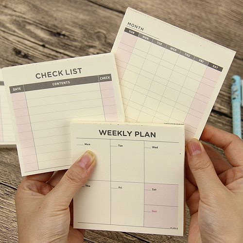 1 PC Cute Kawaii Weekly Monthly Work Planner Book Diary Agenda Filofax For Kids School Supplies