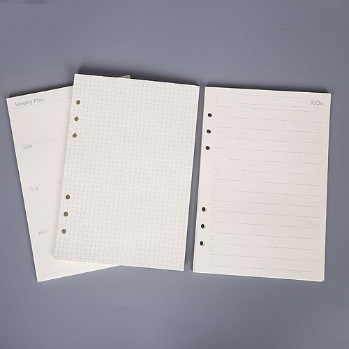 45PCS high quality binder notebook A5/A6 insert refill 6 hole loose leaf spiral notebook paper diary plan inner core paper