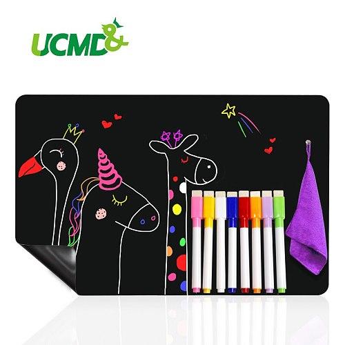 Magnetic BlackBoard Calendar for Kitchen Refridgerator Chalkboard Menu Planner Board Fridge Stickers With 8 color Chalk Markers
