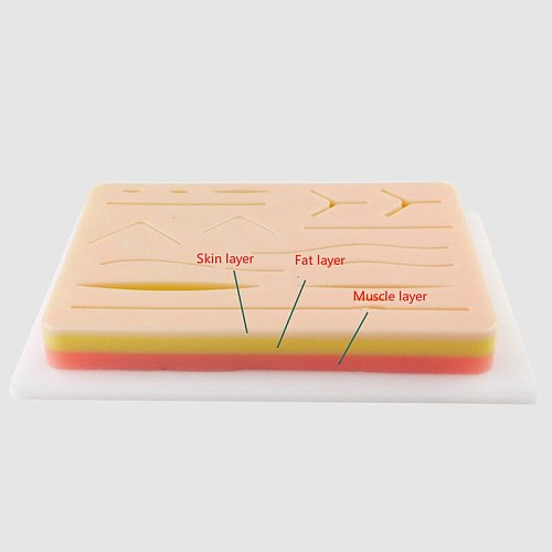 Surgical Skin Suture Practice Silicone Pad with Wound Simulated Skin Suture Module High Quality Surgical Equipment
