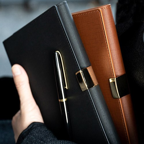 A5 A6 Light luxury office Business High-grade Meeting Loose Leaf Binder Spiral Notebook 6 Hole Metal buckle Diary planner Agenda