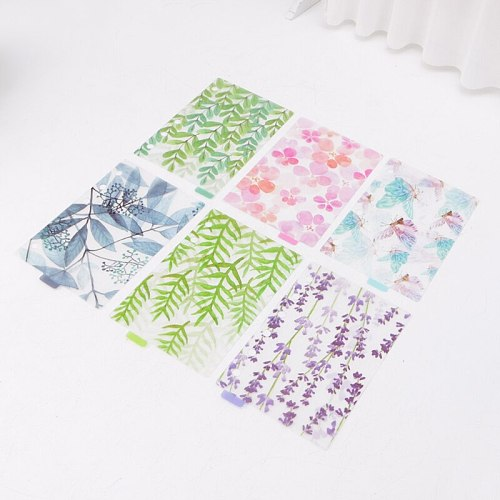 A5 A6 A7 Catoon Clear Divider Index Pages Classified Sorter For 6-Holes Binder