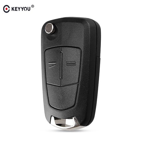 KEYYOU Flip Remote Folding Car Key Cover Fob Case Shell For Vauxhall Opel Astra H Corsa D Vectra C Zafira Astra Vectra Signum
