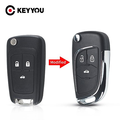 Modified Folding Remote Car Key Shell For Chevrolet Cruze Epica Lova Camaro For Opel Vauxhall Insignia Astra Mokka For Buick