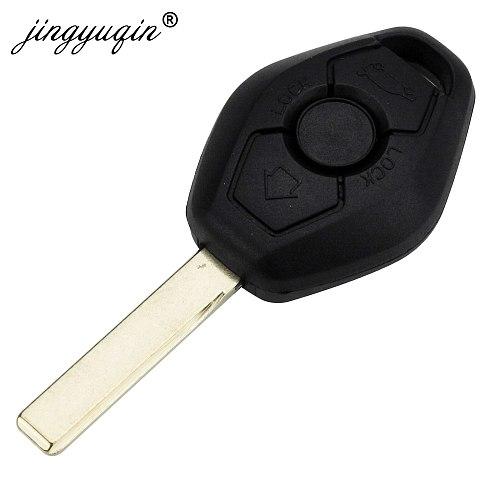 jingyuqin EWS Sytem Car Remote Key for BMW E38 E39 E46 X3 X5 Z3 Z4 1/3/5/7 Series 315/433MHz ID44 Chip Keyless Entry Transmitter