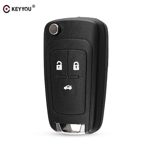 KEYYOU Flip Folding Remote Car Key Shell Case For Chevrolet Cruze Epica Lova Camaro Impala Aveo 2010 2011 2012 2013 HU100 Blade