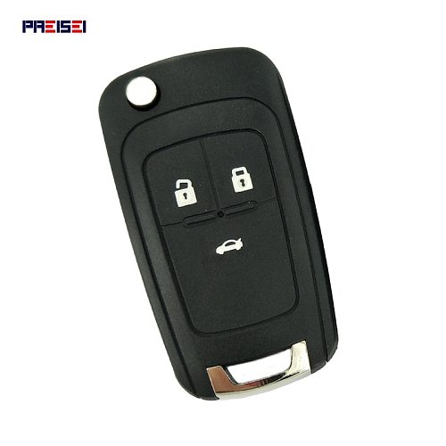 PREISEI 3 Button Replacement Flip Folding Remote Car Key Shell Case For Chevrolet Cruze Epica Lova Camaro Impala Aveo