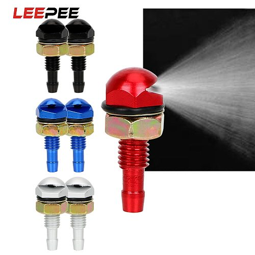 LEEPEE 2Pcs Fan-Shaped Car Cleaning Universal Washer Bonnet Front Windshield Water Sprayer Auto Wiper Jet Nozzle