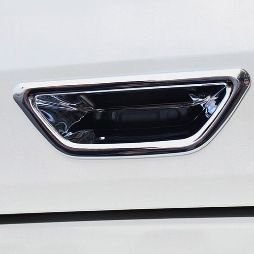 1pcs Rear Tail Door Bowl Trim Chrome cover sticker Fit for X TRAIL X-trail Xtrail Rogue T32 2014 to 2019 rear door bow Styling