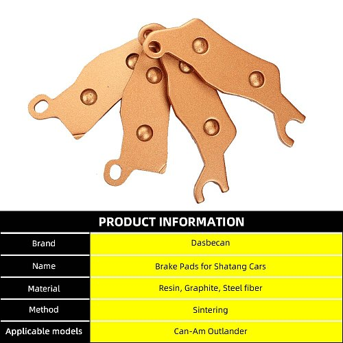SOPEDAR Brake Pads for Beach Cars 3 Sets Front and Rear Sintered Metal Severe Can-Am Outlander L MAX 450 EFI L Max DPS 450