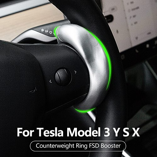 Model3 Steering Wheel Booster For Tesla Model 3 Y S X Accessories Counterweight Ring Autopilot Automatic Assisted driving AP