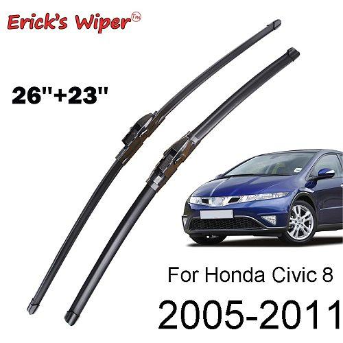 Erick's Wiper Front Wiper Blades For Honda Civic 8 European Hatchback Windshield Windscreen Front Window 26 &23 (Spaceship Type)