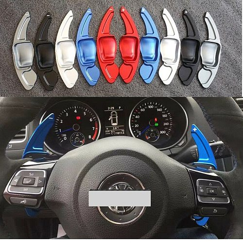 Aluminum Alloy Add-On Steering Wheel DSG Paddle Shifters Extension For VW Tiguan Golf 6 MK5 MK6 Jetta GTI R20 R36 CC Scirocco