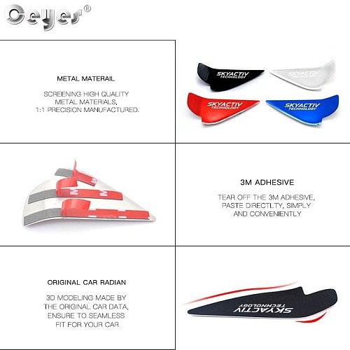 Ceyes Car Chrome Styling Accessories Door Handle Wrist Bowl Trim Sticker Case For Mazda Skyactiv Technology CX 5 CX5 CX3 6 Axela