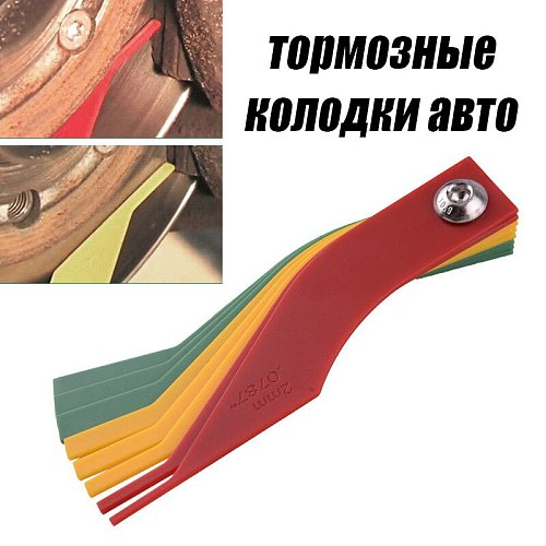 Universal Car Brake Pads scale Thickness Gauge 8 in 1 Plastic Brake Feeler Gauge Measure Pad Wear measuring measurement