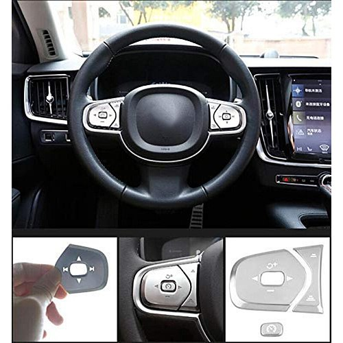 Steering Wheel Buttons Sequins Decoration Cover Trim 6Pcs for Volvo XC60 S90 XC90 2017-18 Car Styling