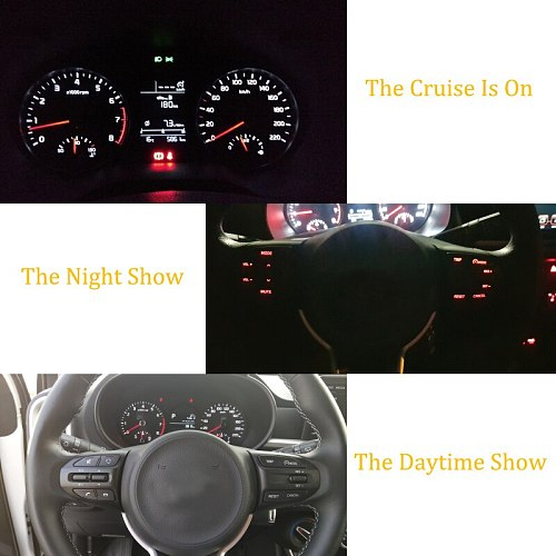Steering wheel Cruise Control Buttons For KIA K2 RIO 2017 2018 2019 RIO Bluetooth Phone Volume switch shift knob for car Parts