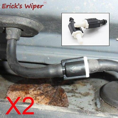 Erick's Wiper 2Pcs Windshield Wiper Washer Non Return Check Valve Improve Glass Washer For Hyundai Getz Part Code 85321-26020