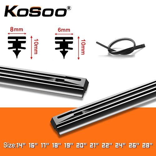 1PCS Windshield Windscreen 8MM 6MM 14 16 17 18 19 20 21 22 24 26 28  Car Wiper Blade Replacement Insert Refill Rubber Strip