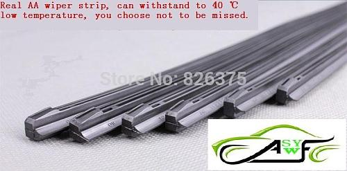 2 piece High Quality Car Wiper Blade Windscreen Strips Soft Wipers Rubber Size (8mm) 14  16  17  18  19  20  21  22  24  26  28