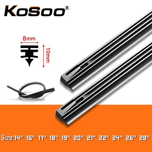 Auto Windscreen Car Wiper Blade Replacement Refill Strip Rubber bands 8MM DIY 14 16 17 18 19 20 21 22 24 26 28  1pcs Accessories