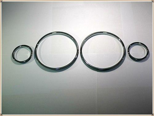 Chrome Speedometer Gauge Dial Rings Bezel Trim Chrome Tacho Rings for BMW E39 5 Series / BMW E38 7 Series / BMW E53 X5