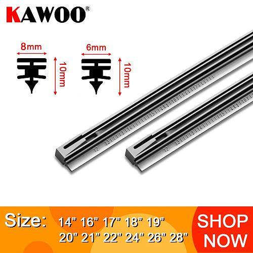 KAWOO 1pcs Car Windscreen Wiper Blade Insert Rubber Strip (Refill) 8mm/6mm Soft 14 16 17 18 19 20 21 22 24 26 28  Accessories