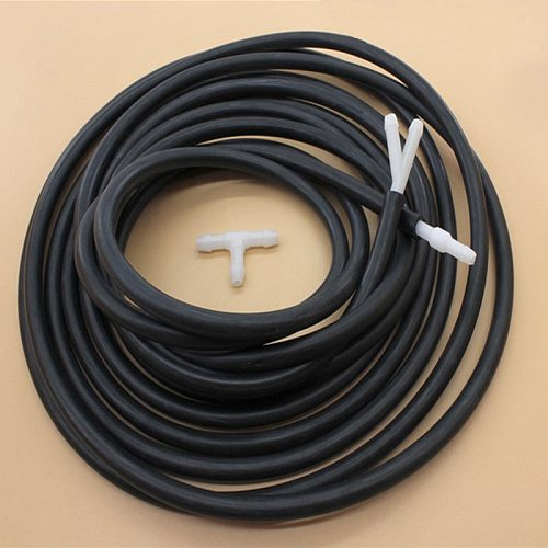 Windscreen Wipers rubber hose Kit 150cm Glass water Nozzle Pipe With 3pcs white Connectors Universal Vehicle Accessories