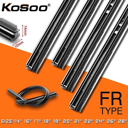 KOSOO 1PCS Car Wiper Blade Insert Natural Rubber Strip 10mm 14 16 17 18 19 20 21 22 24 26 28  Windscreen FR Wipe Car Accessories