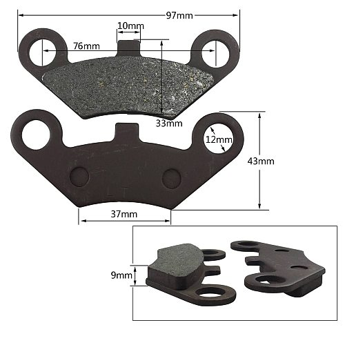 2 x ATV Front Brake Pads For CFMoto CF500 500cc CF600 600cc X5 X6 X8 ATV UTV