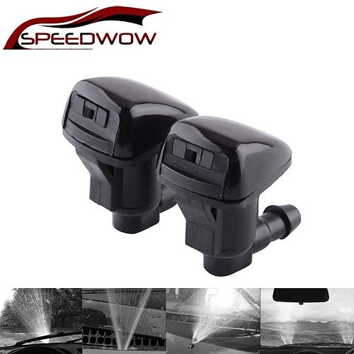 SPEEDWOW 2Pcs/set Car Front Windshield Water Spray Wiper For Toyota E120 Corolla Camry XV30 Accessories 85381-AE020