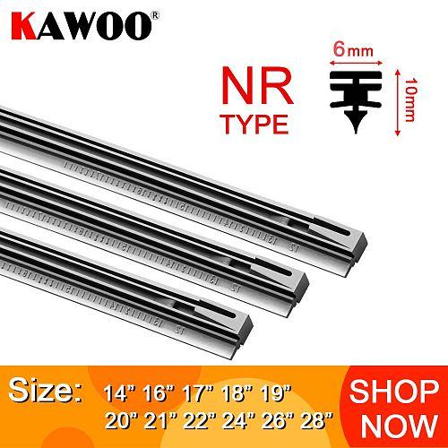 KAWOO Car windscreen Wiper Blade Insert Natural Rubber Strip NR 6mm (Refill) 14 16 17 18 19 20 21 22 24 26  1pcs Car Accessories