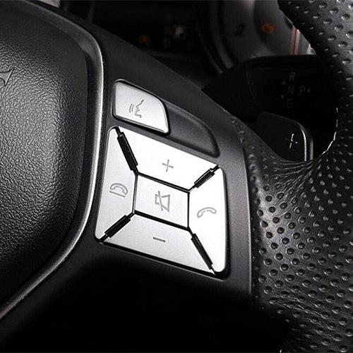 Steering Wheel Button Switch Trim Cover Sticker For Mercedes Benz A B C E Ml Gl Cla Gla Glk Sl Slk Class W176 W246 W212 W204