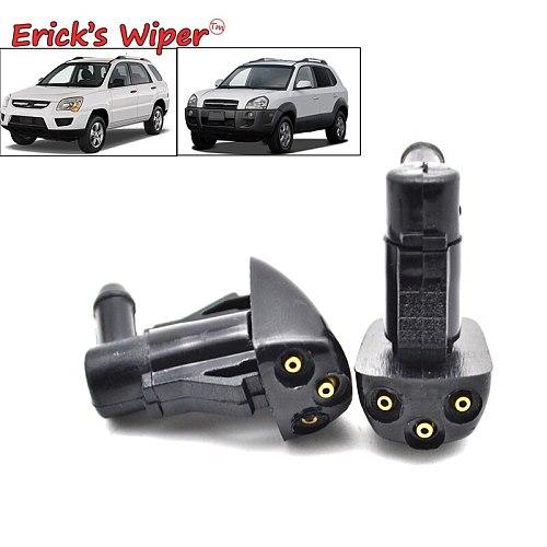 Erick's Wiper 2Pcs/lot Front Windshield Wiper Washer Jet Nozzle For Hyundai Tucson MK1 2005 2006 2007 2008 2009 2010