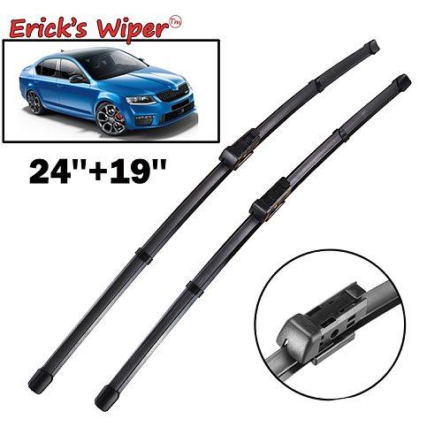 Erick's Wiper RHD & LHD Front Wiper Blades For Skoda Octavia A7 Typ5E MK3 2013 - 2019 Windshield Windscreen Front Window 24 19