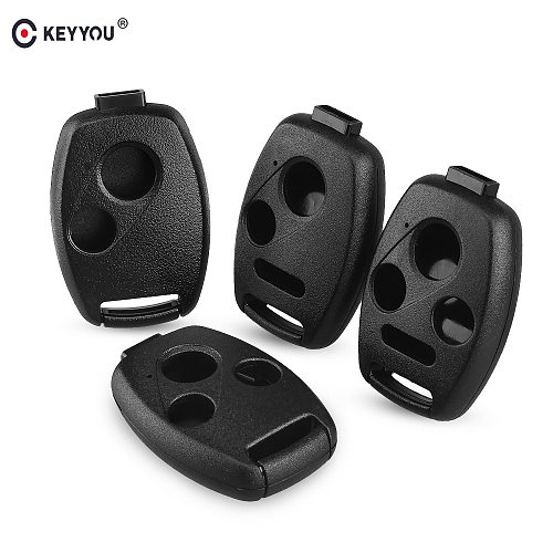 KEYYOU Car Key Case Shell Remote Fob Cover For HONDA Accord CRV Pilot Civic 2003 2007 2008 2009 2010 2011 2012 2013