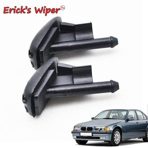 Erick's Wiper 2Pcs Front Windshield Wiper Washer Jet Nozzle For BMW E36 318i 318is 318ti 323i 323is 325i 325is 328i 328is