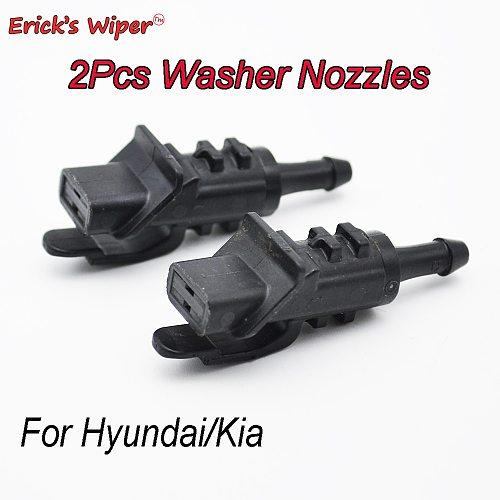 Erick's Wiper 2Pcs Front Windshield Washer Jet Nozzle For Hyundai i30 MK1 2007-2012 OE# 98630-2L100 98630 2L100