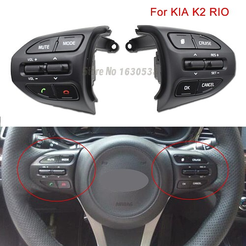 New Steering Wheel Button Cruise Control Volume Switch with Red line For KIA K2 RIO 2017 2018 2019 RIO 4 X LINE