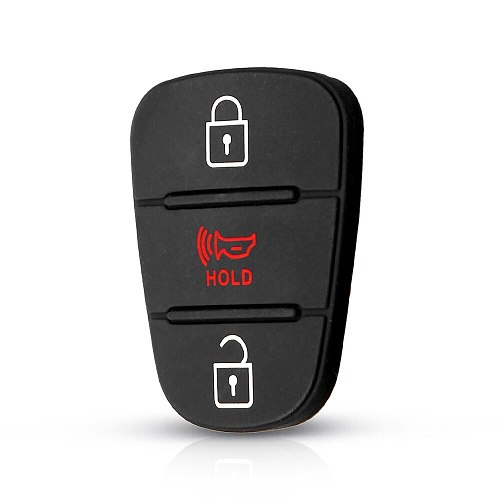 KEYYOU Rubber Button Pad For Hyundai I30 IX35 Solaris Accent Elantra Sportage Hold Kia K2 K5 RIO Verna Flip Car Remote Key Shell